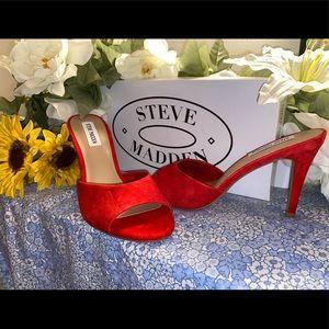 "Red 3"" Steve Madden heels"
